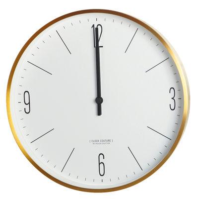 Déco - Horloges  - Horloge murale Clock Couture / Ø 30 cm - House Doctor - Or - Aluminium peint, Matière plastique