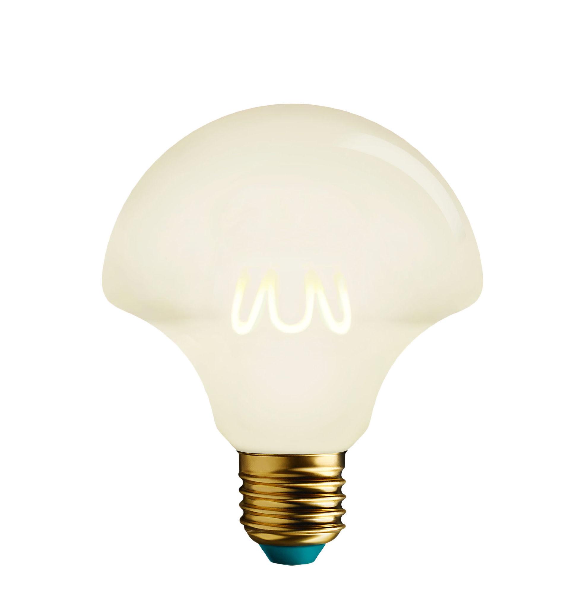 Illuminazione - Lampadine e Accessori - Lampadina LED filamenti E27 Willow Milky - / Dimmerabile - 4,5W (21W) - 200lm di Plumen - Bianco - Alluminio, Vetro
