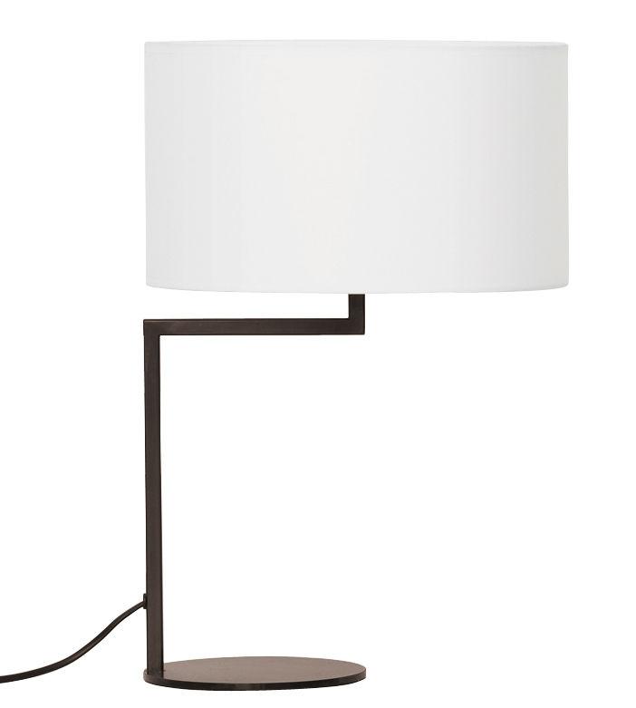 Luminaire - Lampes de table - Lampe de table Neat Noon - Zeitraum - Abat-jour blanc / structure noir mat - Fer laqué, Lamitex