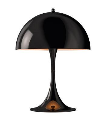 Luminaire - Lampes de table - Lampe de table Panthella Mini LED / H 33,5 cm - Métal - Louis Poulsen - Noir - Acier, Aluminium