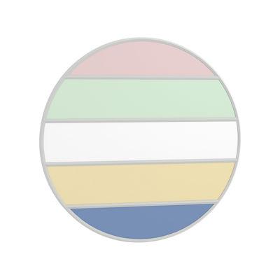 Mobilier - Tabourets de bar - Miroir mural Vitrail / Ø 50 cm - Magis - Cadre gris / Multicolore - Caoutchouc, Verre