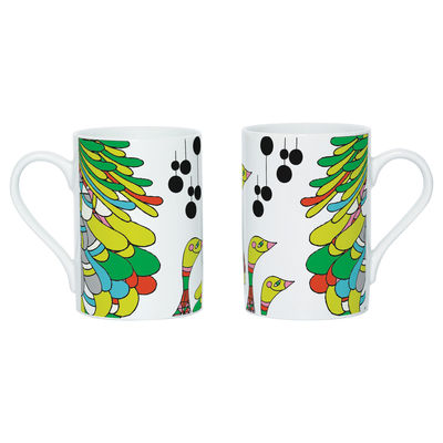 Tableware - Coffee Mugs & Tea Cups - Say Cuak Cuak Mug - Screen printed mug by Domestic - White & multicoloured - China