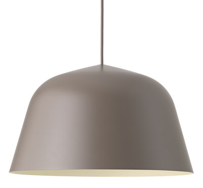 Leuchten - Pendelleuchten - Ambit Pendelleuchte / Ø 40 cm - Muuto - Taupe - Aluminium