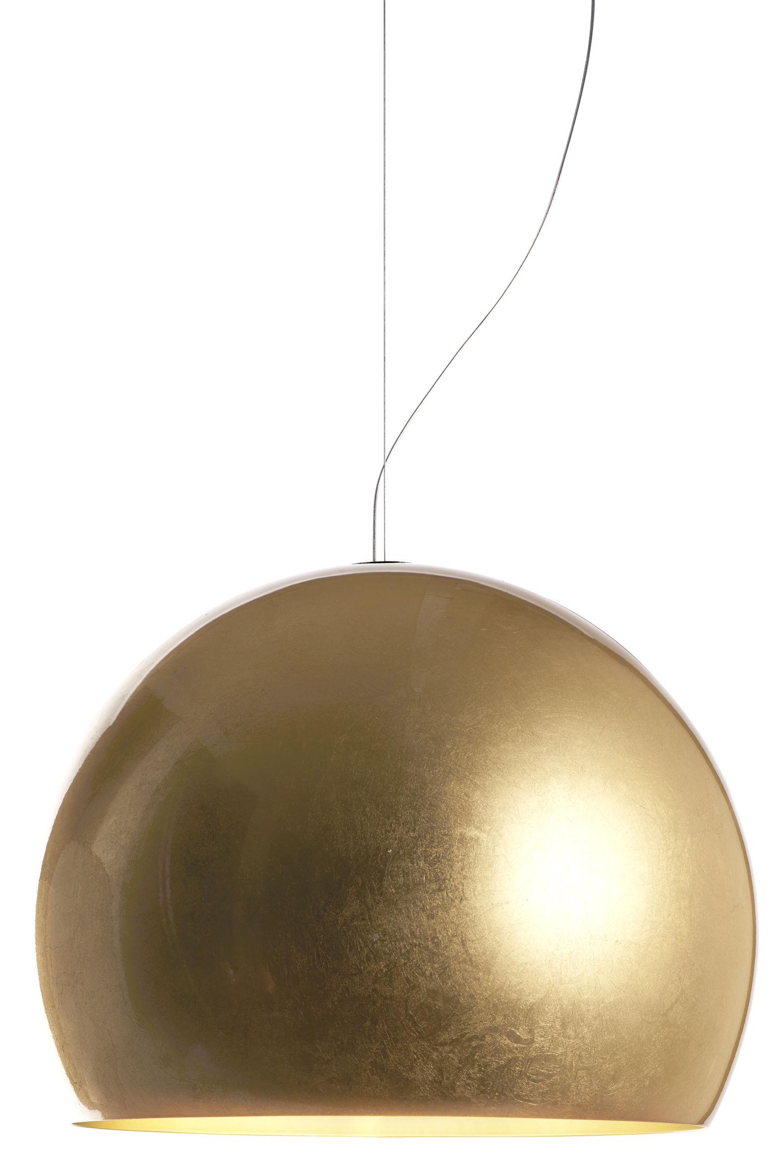 Leuchten - Pendelleuchten - Lalampada Pendelleuchte / vergoldet - Opinion Ciatti - Mit Blattgold beschichtet / Innenseite goldfarben - Aluminium, Blattgold