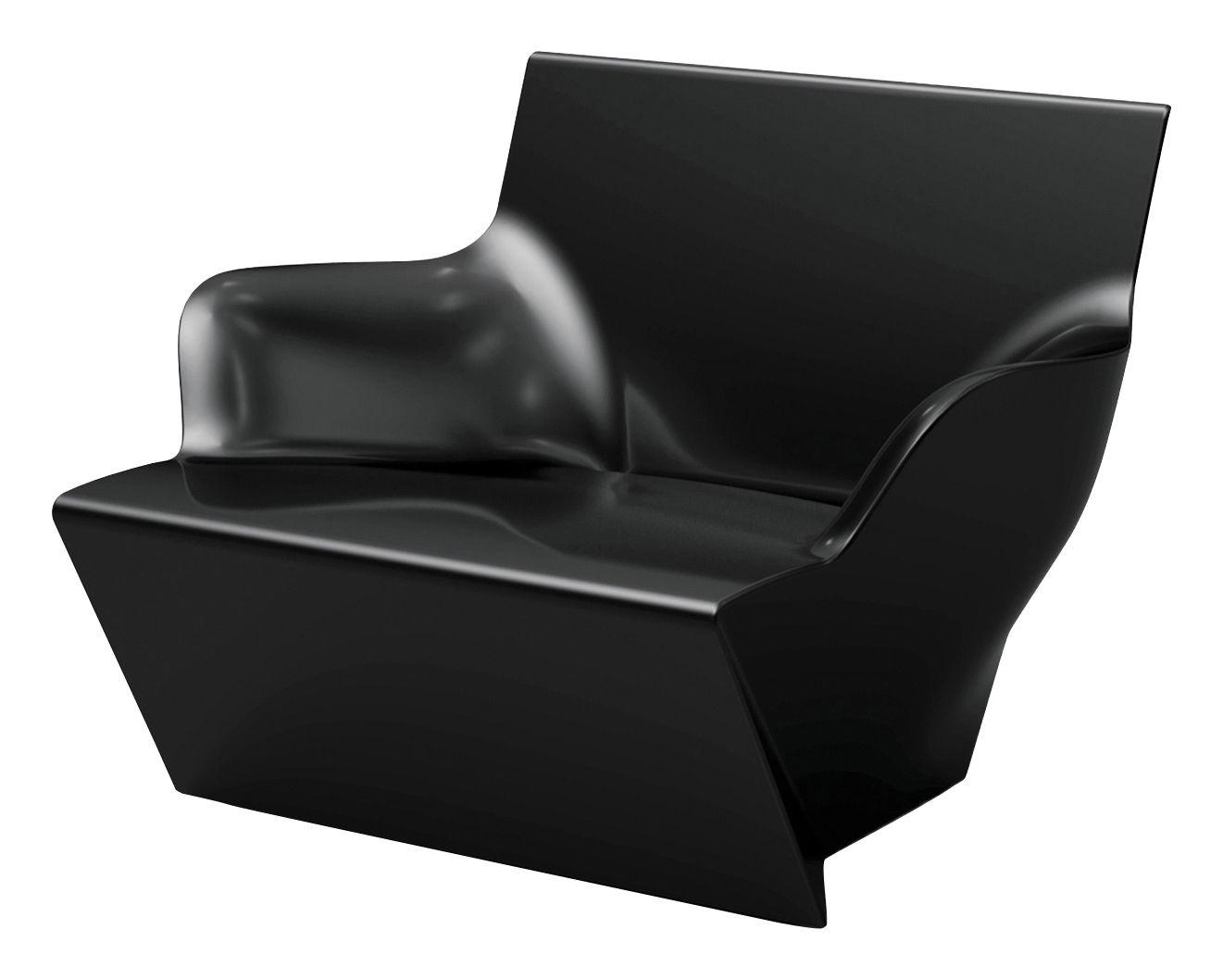 Arredamento - Poltrone design  - Poltrona Kami San - versione laccata di Slide - Laccato nero - polietilene riciclabile