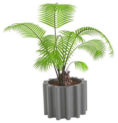 Pot de fleurs Gear - Slide gris en matière plastique