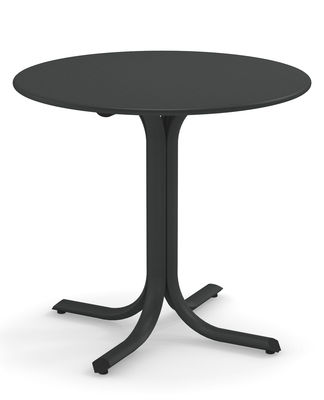 Outdoor - Garden Tables - System Round table - / Ø 120 cm by Emu - Antique iron - Galvanised painted steel