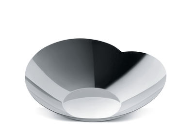 Tableware - Bowls - Human Collection Salad bowl - Small - By Bruno Moretti and Guy Savoy by Alessi - Small - Shiny steel - Stainless steel 18/10