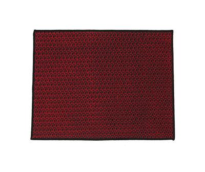 Set de table Zofia / 45 x 35 cm - Maison Sarah Lavoine noir,rouge royal en tissu
