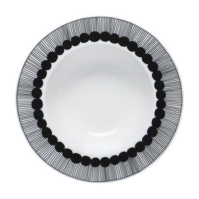 Tableware - Plates - Siirtolapuutarha Soup plate - /Ø 20 cm by Marimekko - White - Black - Enamelled china