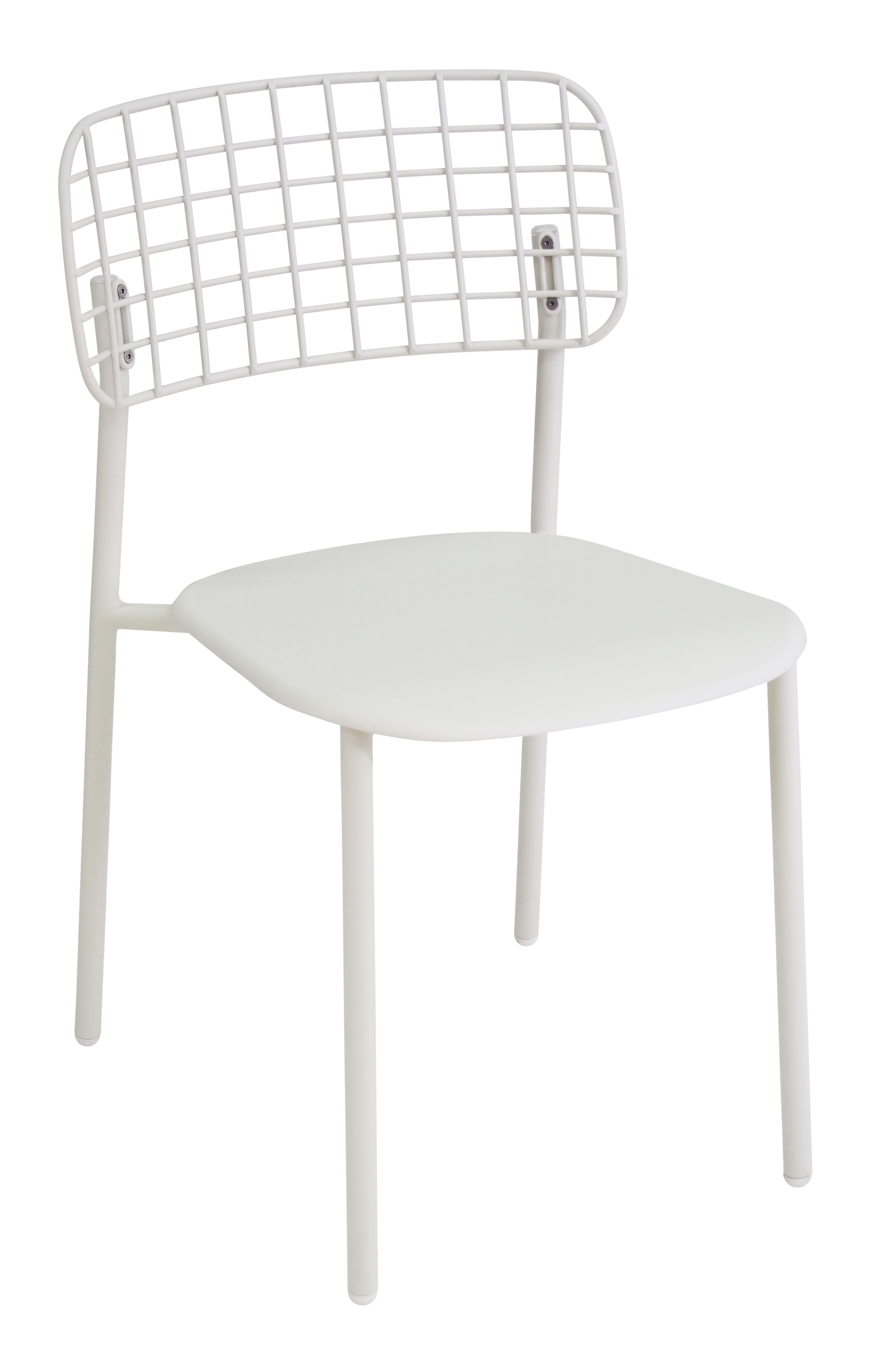 Furniture - Chairs - Lyze Stacking chair - Metal by Emu - Matt white - Varnished aluminium, Varnished stainless steel