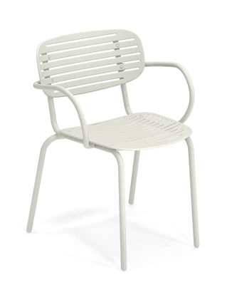Mom Stapelbarer Sessel / Metall - Emu - Weiß
