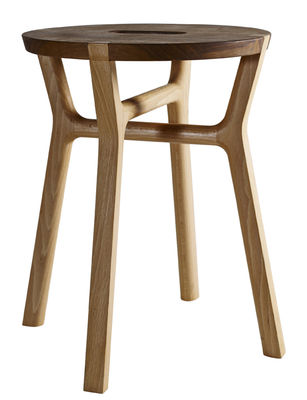 Furniture - Stools - Affi Stool - H 42 cm - Wood by Internoitaliano - Natural wood - Natural beechwood, Solid walnut