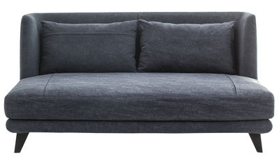 Furniture - Sofas - Gimme More Straight sofa - L 160 - 2 seaters by Diesel with Moroso - Dark blue jean - Fabric, Foam, Steel