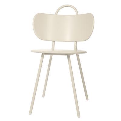 Möbel - Stühle  - Swim Stuhl / Metall - Bibelo - Beige - Acier laqué époxy