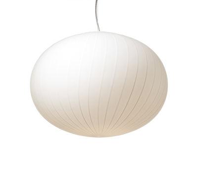 Suspension Filigrana Ellipse / Rayures blanches - Ø 37 cm - Established & Sons blanc en verre