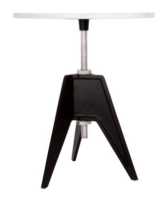 Table à hauteur réglable Screw / Ø 90 cm - Tom Dixon blanc,noir en métal