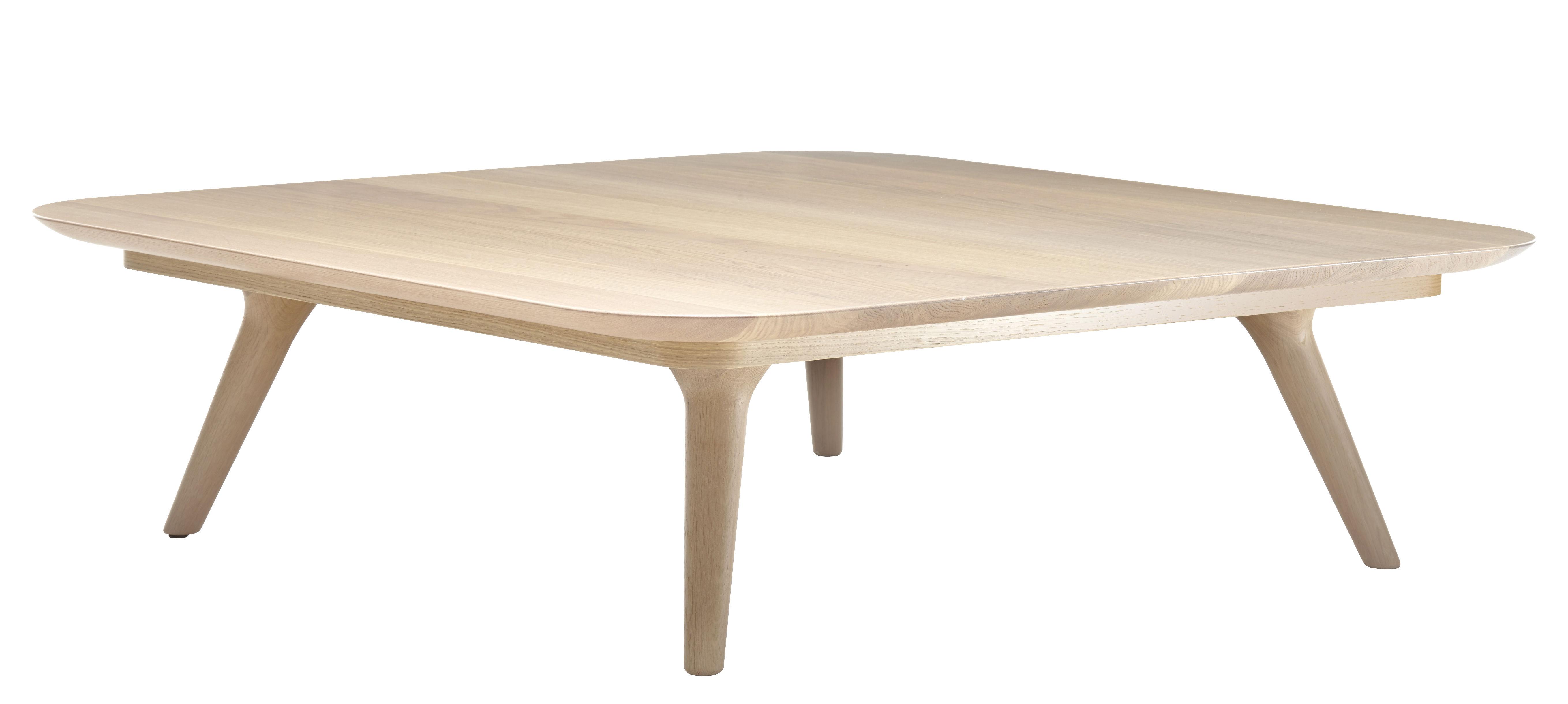 Mobilier - Tables basses - Table basse Zio / 110 x 110 cm - Chêne - Moooi - Chêne blanchi - Chêne massif blanchi