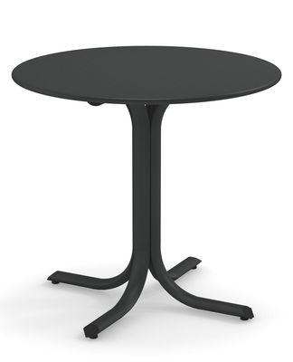 Outdoor - Tables de jardin - Table ronde System / Ø 120 cm - Emu - Fer Antique - Acier peint galvanisé