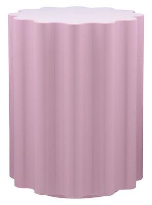Tabouret Colonna H 46 x Ø 34,5 cm By Ettore Sottsass Kartell rose en matière plastique