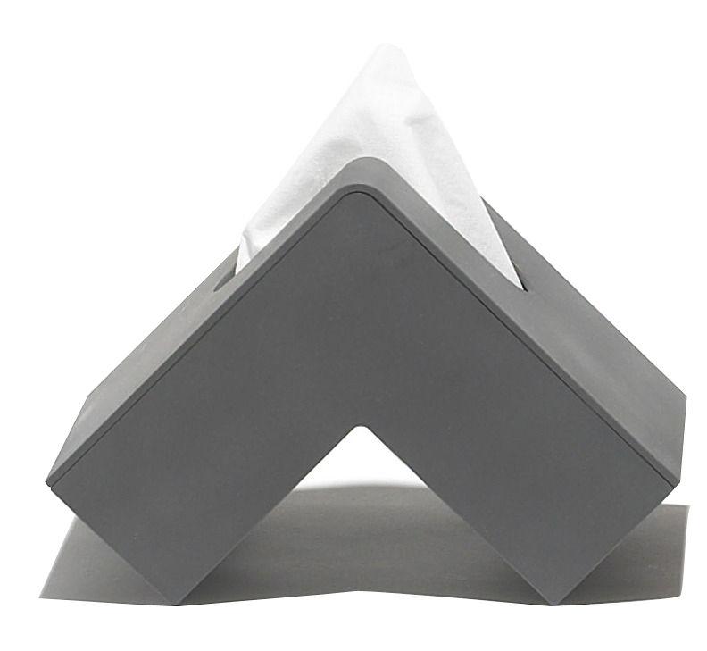 Dekoration - Badezimmer - Folio Taschentuch-Behälter - Pa Design - anthrazit - Plastik