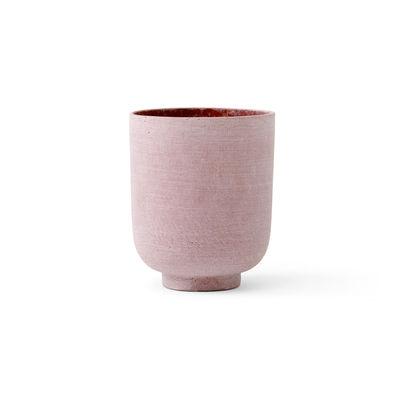 Image of Vaso per fiori Collect SC70 - / Ø 15 x H 18 cm - Polystone di &tradition - Rosa - Materiale plastico/Pietra