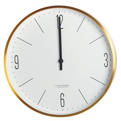 Decoration - Wall Clocks - Clock Couture Wall clock - Ø 30 cm by House Doctor - Gold - Painted aluminium, Plastic material