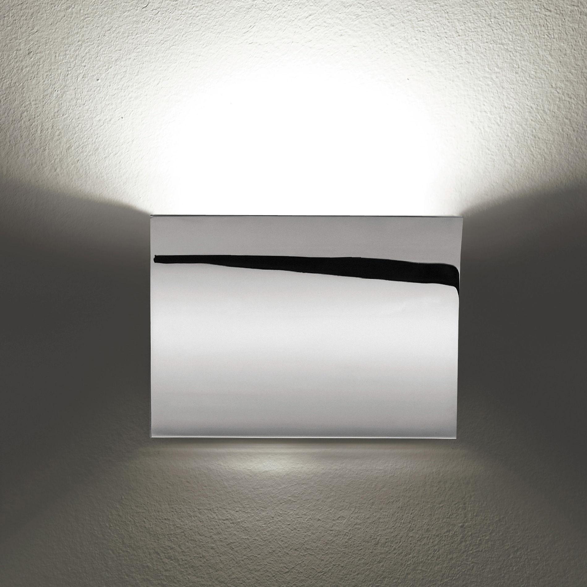 Lighting - Wall Lights - Pochette Wall light by Flos - Chrome - Zamak
