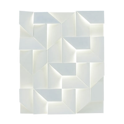 Lighting - Pendant Lighting - Shadows Wall light - LED - 90 x 120 cm by Nemo - White - Matte powder aluminium