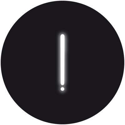 Applique avec prise Neon Art / Symbole ! - Seletti blanc en verre