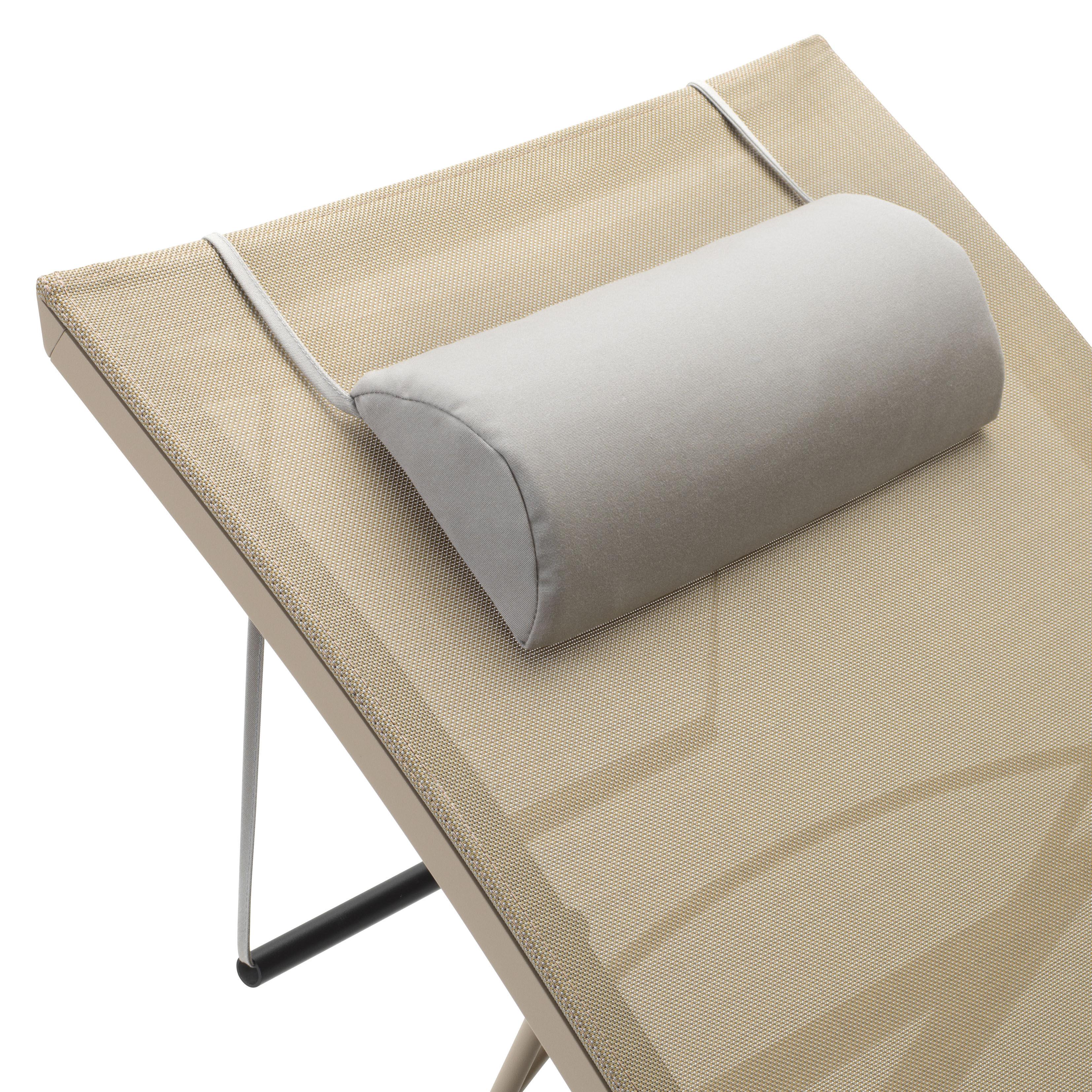 Outdoor - Chaises longues et hamacs - Appui-tête / Pour bains de soleil Dune et Alizé - Fermob - Gris cailloux - Mousse, Tissu Sunbrella
