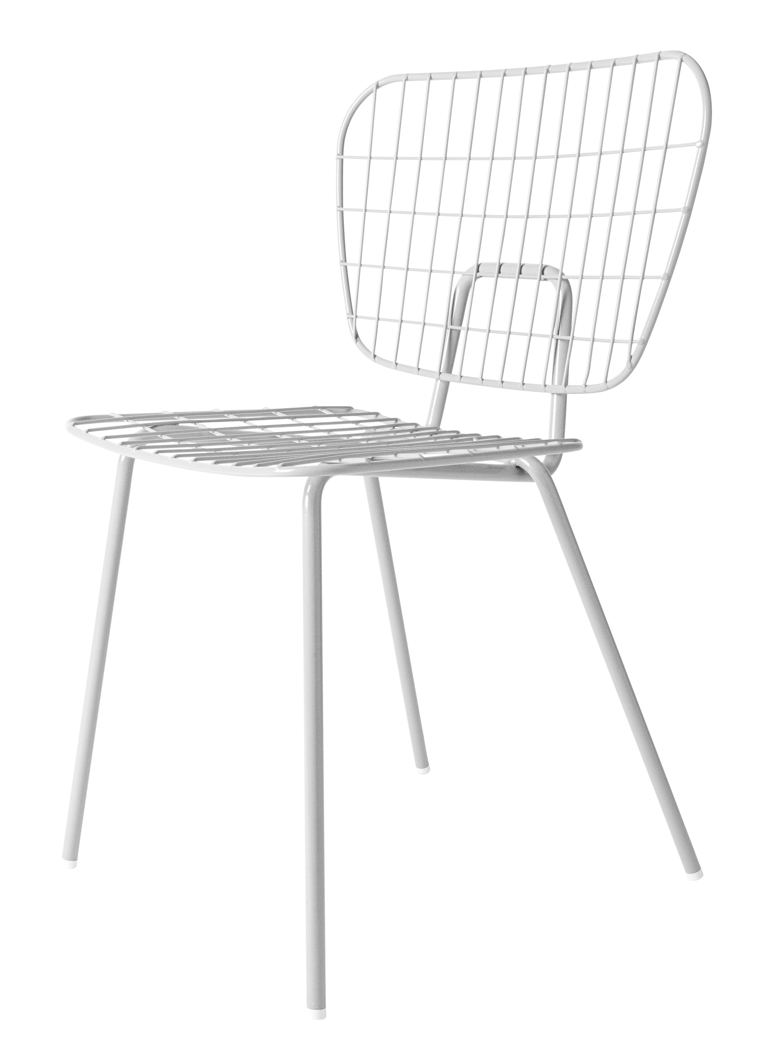 Furniture - Chairs - WM String Chair - Steel by Menu - White - Epoxy lacquered steel