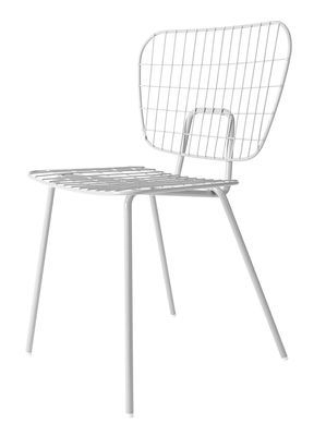 Chaise WM String Acier Menu blanc en métal