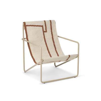 Furniture - Kids Furniture - Desert Children armchair - / Beige structure Recycled plastic bottles by Ferm Living - / Beige metal Formes canvas - Powder coated steel, Recycled fabric