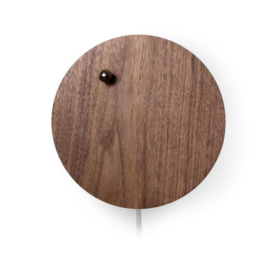 Decoration - Wall Clocks - Story Clock - / Levitating ball by Flyte - Walnut - Metal, Walnut
