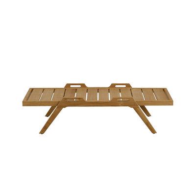 Furniture - Coffee Tables - Synthesis Coffee table - / 127 x 54 cm - Teak by Unopiu - Teak - Teak