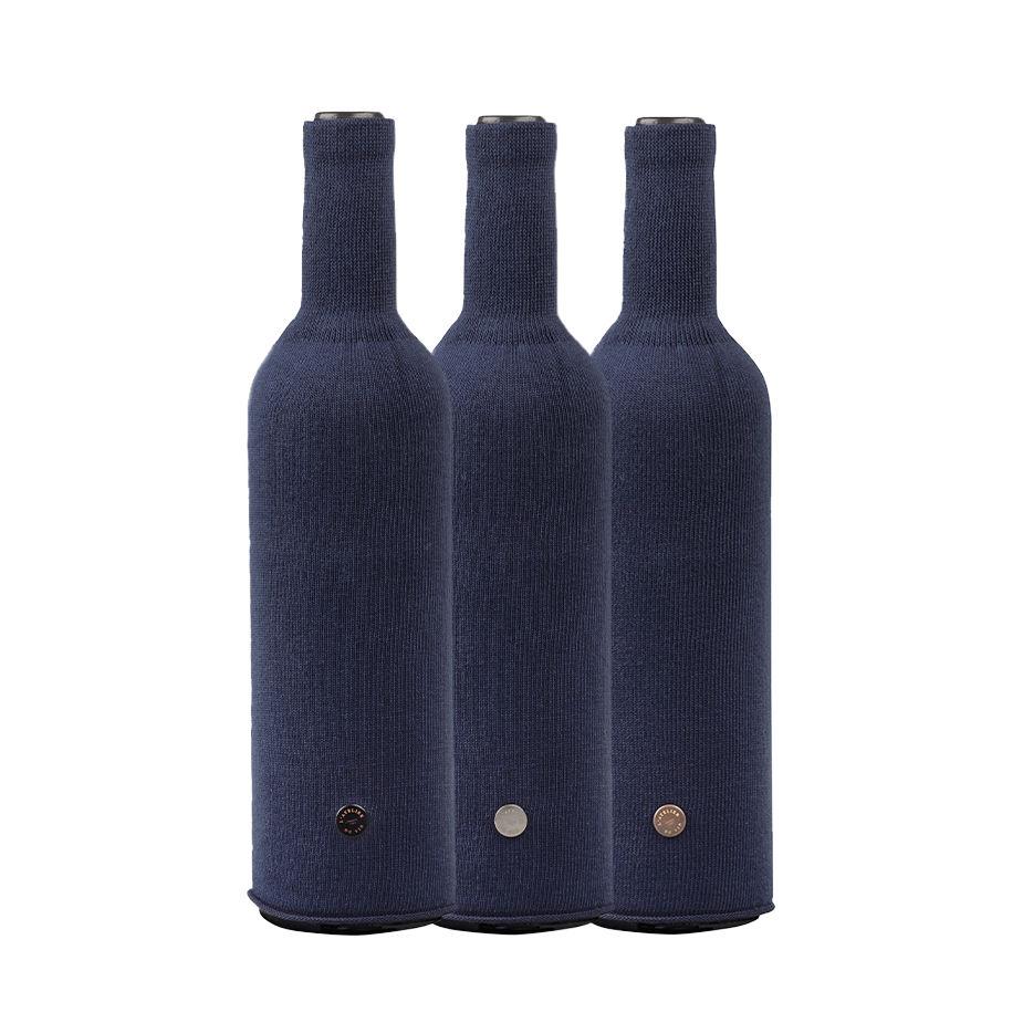 Tavola - Accessori  - Copri bottiglia - / Set da 3 - Per degustazione alla cieca di L'Atelier du Vin - Blu marino - Cotone, Elastam, Poliammide
