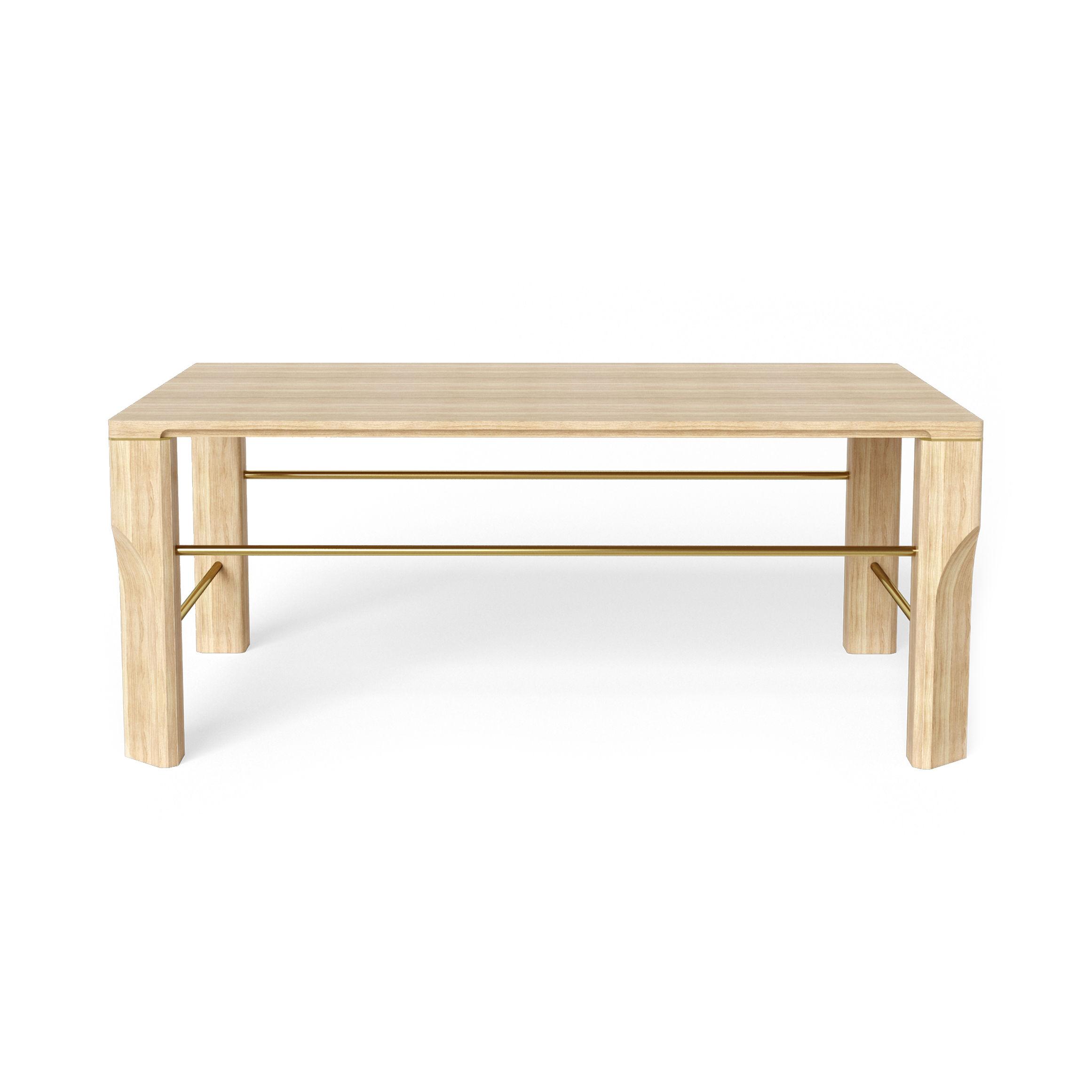 Möbel - Couchtische - Joséphine Couchtisch / Eiche - 100 x 70 cm - Hartô - Eiche natur - massive Eiche, Metall