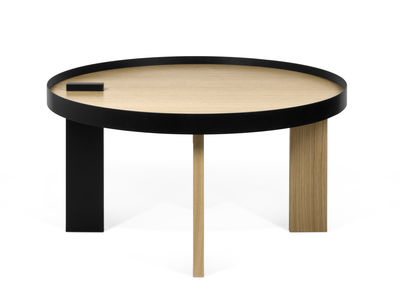 Tokyo Couchtisch / Holz & Metall - Ø 80 cm x H 42 cm - POP UP HOME