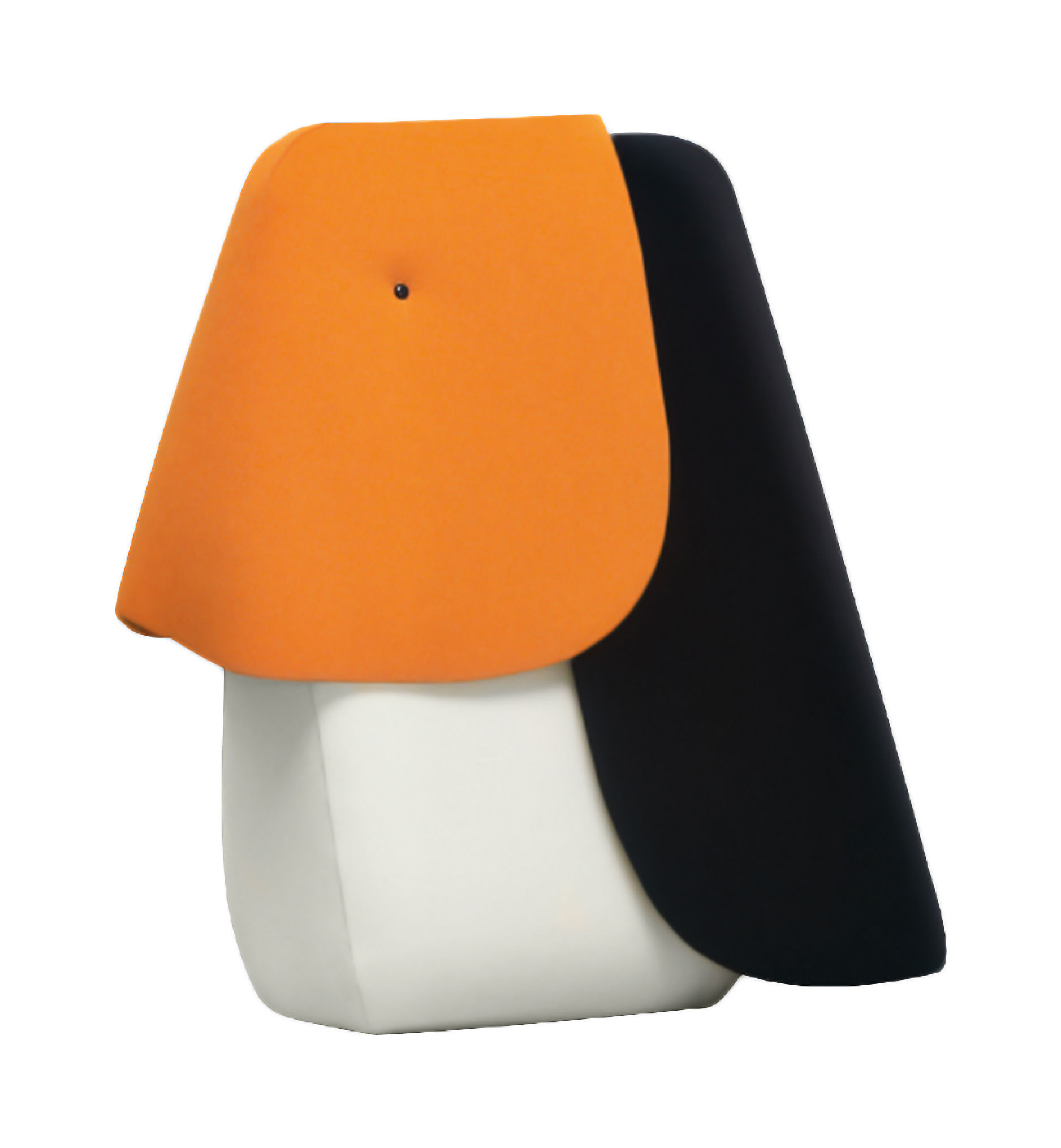 Decoration - Children's Home Accessories - Toucan Mini Cushion - W 14 x H 33 cm by Elements Optimal - Orange, Black, White / Toucan - Foam, Kvadrat fabric