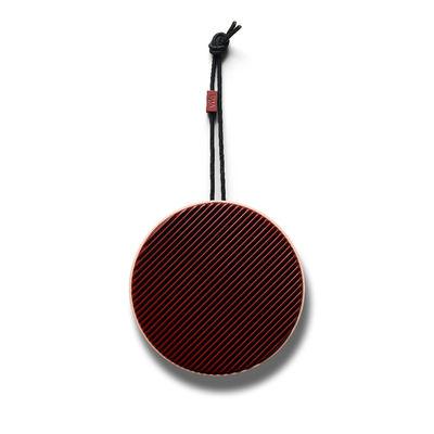 La boutique de Noël - Élégance dandy - Enceinte Bluetooth City / Sans fil - Ø 10,5 cm - Son à 360° - Vifa - Rose poudré / Bordeaux - ABS, Aluminium
