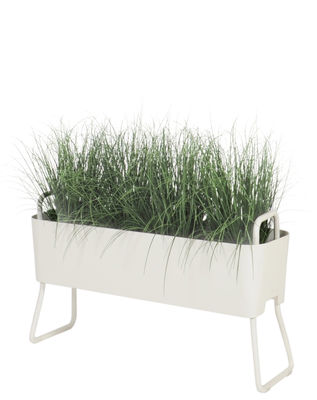 Outdoor - Pots & Plants - Greens Mini Flowerpot - Metal / L 100 x H 46 cm by Maiori - White - Lacquered aluminium