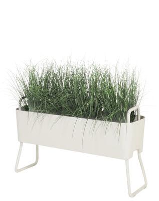 Jardinière Greens Mini / Métal - L 100 x H 46 cm - Maiori blanc en métal