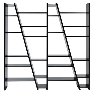 Arredamento - Scaffali e librerie - Libreria Delta 004 / L 190 x H 195 cm - POP UP HOME - Nero - Melamina, Pannelli alveolari