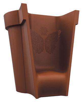 Jardin - Pots et plantes - Pot de fleurs 13 / fauteuil - H 160 cm - Casamania - Rouge brique - Polypropylène