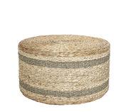 Pouf Rota Jacinthe d'eau Ø 75 x H 40 cm Bloomingville fibre naturelle en fibre végétale