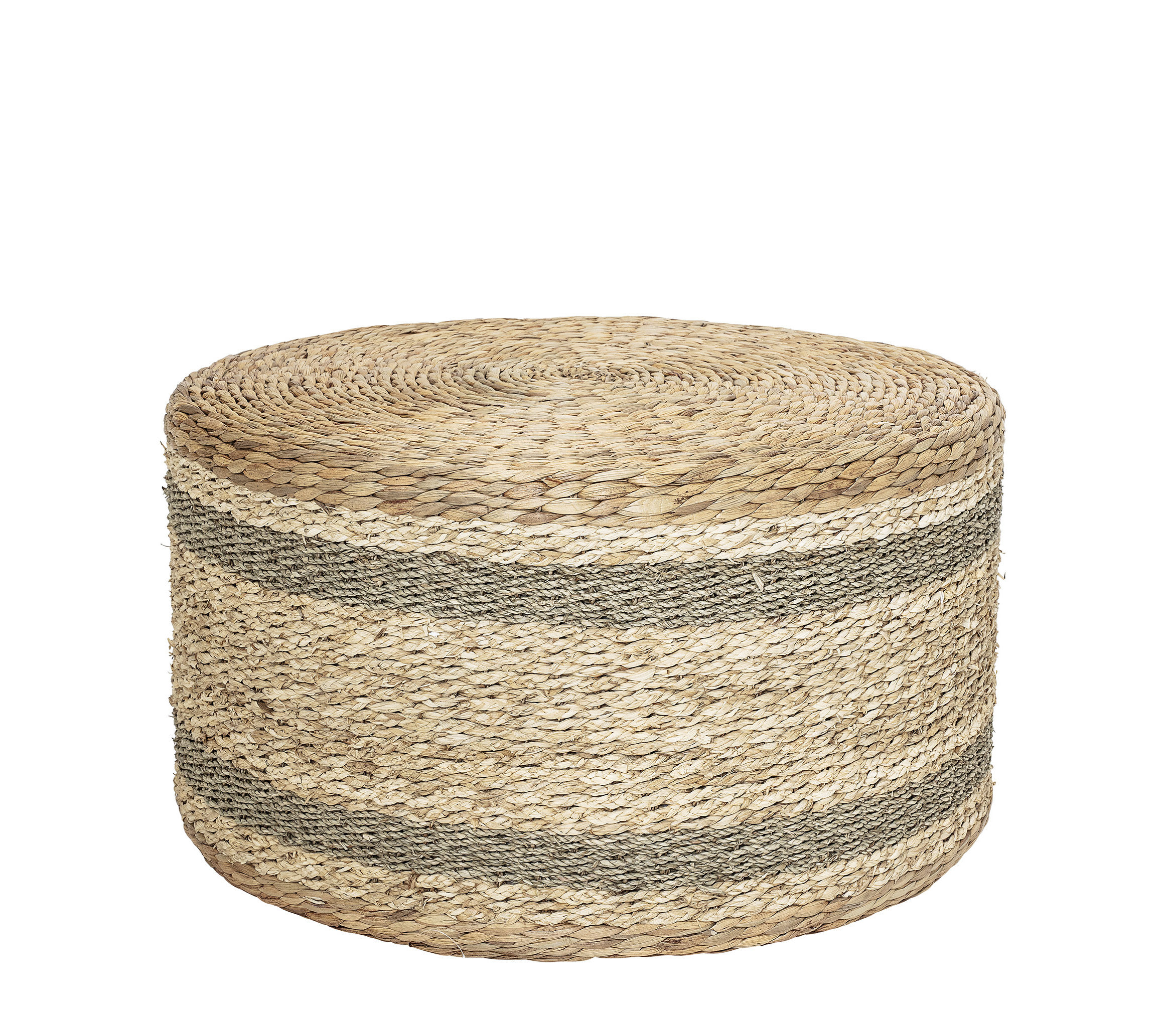 Furniture - Poufs & Floor Cushions - Rota Pouf - / Water hyacinth - Ø 75 x H 40 cm by Bloomingville - Natural fibre - Water hyacinth