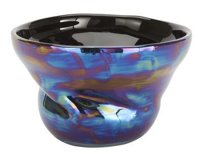 Saladier Warp / Coupe à fruits - Ø 28 cm - Tom Dixon bleu iridescent en verre