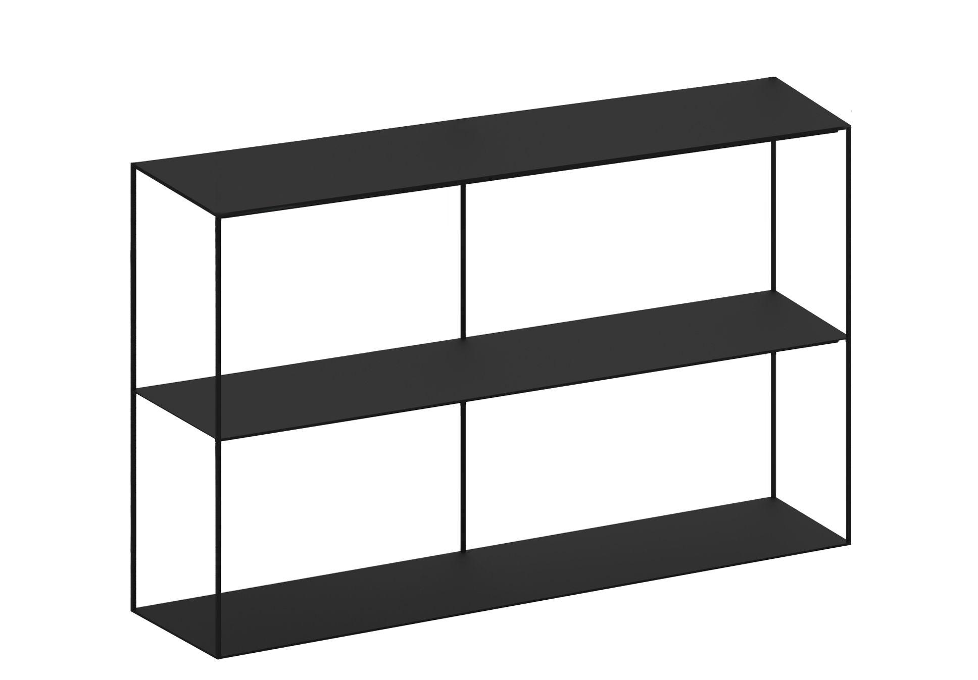Furniture - Bookcases & Bookshelves - Slim Irony Shelf - L 124 cm x H 82 cm by Zeus - Black copper - Painted steel