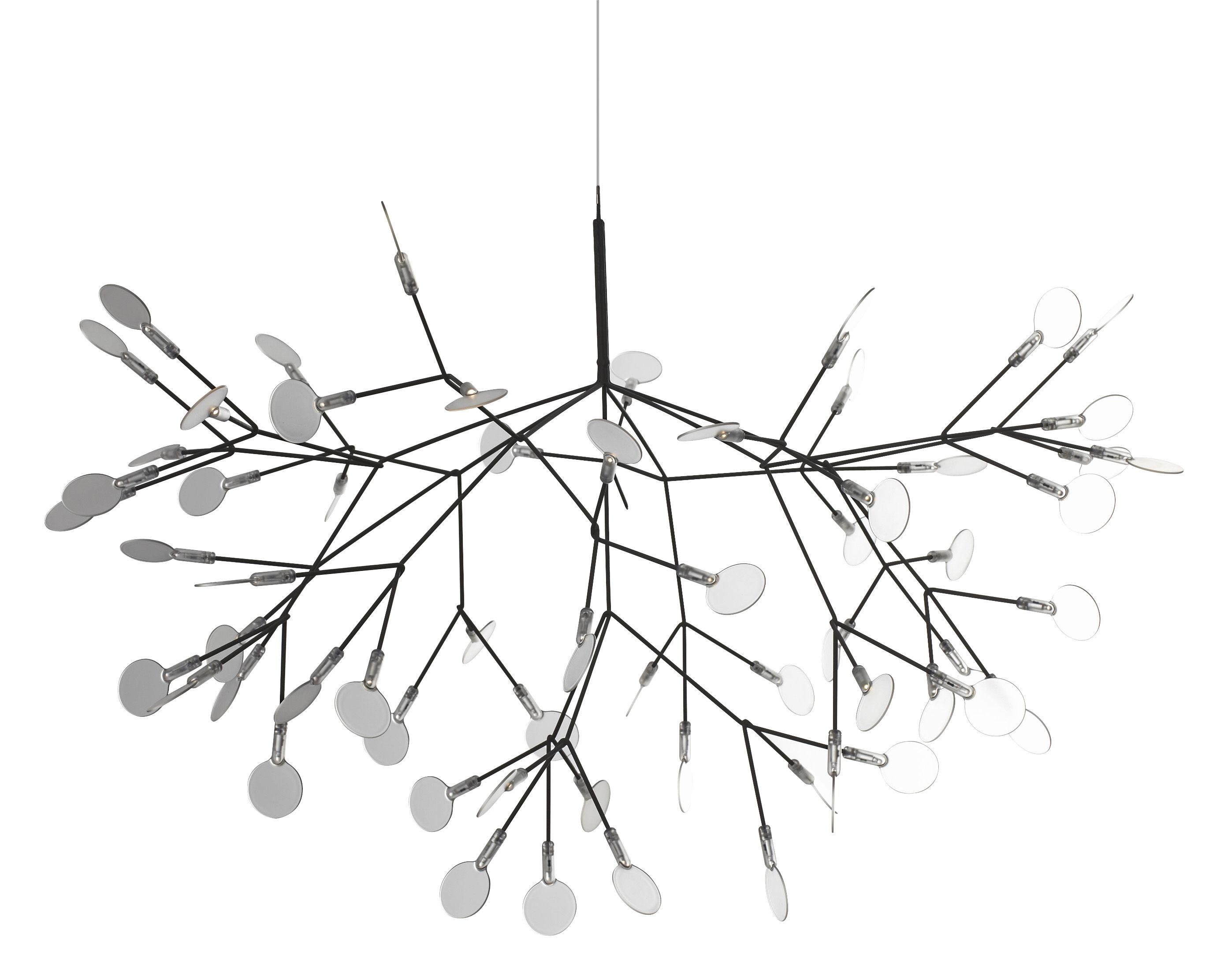 Illuminazione - Lampadari - Sospensione Heracleum di Moooi - Nickel - Metallo, policarbonato